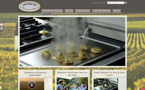 Screenshot of Home Page frenchranges.com - Home page of Art Culinaire - Lacanche USA - captured Feb. 6, 2016