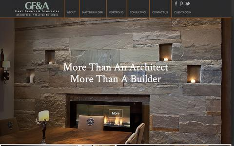Screenshot of Home Page gfarchitect.com - Gary Francis & Associates Architect In Park City, Utah. - captured Jan. 26, 2016