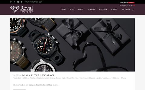 Screenshot of Blog royaljewelers.com - The Royal Review Blog | Royal Jewelers - captured Nov. 7, 2017