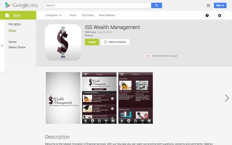 Screenshot of Android App Page google.com - ISS Wealth Management - Android Apps on Google Play - captured Nov. 3, 2014