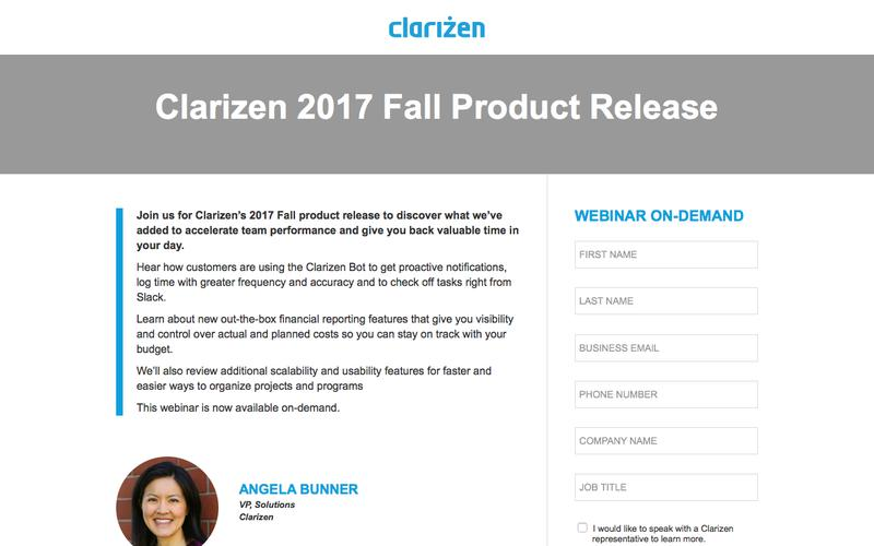 Clarizen 2017 Fall Product Release
