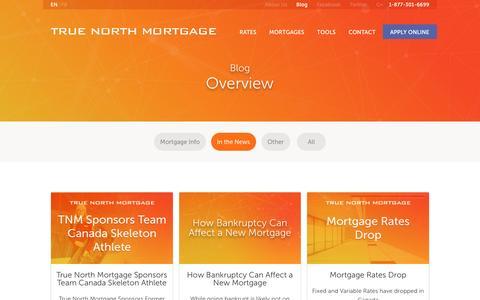 Screenshot of Press Page truenorthmortgage.ca - True North Mortgage Blog | True North Mortgage - captured April 1, 2017