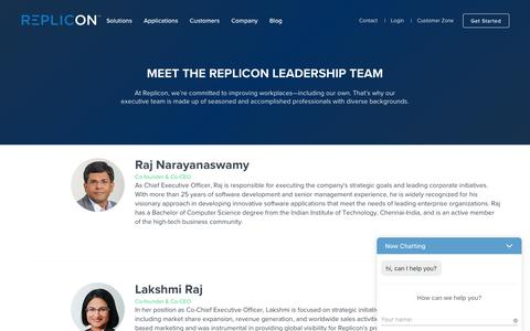 Screenshot of Team Page replicon.com - Executive Team - Replicon - captured March 18, 2017