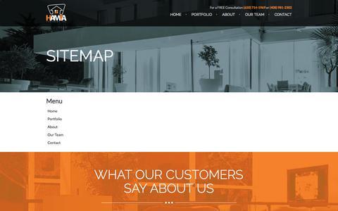 Screenshot of Site Map Page hamtapartners.com - Sitemap | Hamta Partners - captured July 15, 2018
