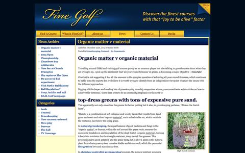 Screenshot of Press Page finegolf.co.uk - News - captured Jan. 8, 2016