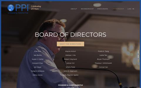 Screenshot of Team Page ppi.institute - Leadership — Pacific Pension & Investment Institute - captured March 10, 2018