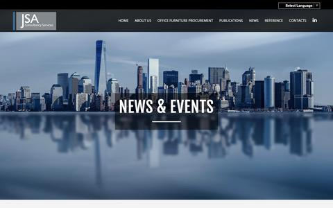 Screenshot of Press Page jsacs.com - Office Furniture News By JSA Consultancy Services | Business News on Office Furniture - captured Oct. 13, 2018