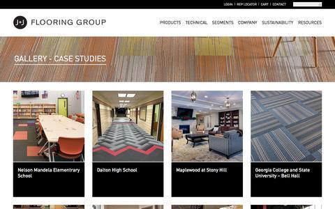 Screenshot of Case Studies Page jjflooringgroup.com - Case Studies Archives - J+J Flooring Group - captured July 20, 2016