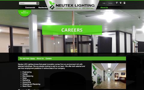 Screenshot of Jobs Page neutexlighting.com - Careers - captured Oct. 26, 2014