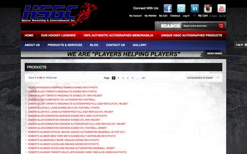Screenshot of Site Map Page hsgcsports.com - Site Map - captured Oct. 1, 2014