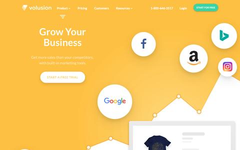 Screenshot of volusion.com - Grow Your Business With Our Complete Ecommerce Solution - captured May 10, 2017