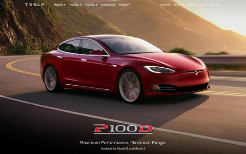 Screenshot of Home Page tesla.com - Tesla | Premium Electric Sedans and SUVs - captured Aug. 24, 2016