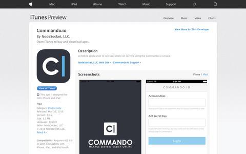 Screenshot of iOS App Page apple.com - Commando.io on the App Store - captured Nov. 14, 2015