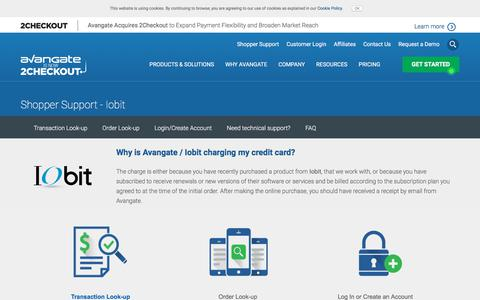 Screenshot of Support Page avangate.com - Customer support related to the order, payment or software delivery | Avangate - captured March 26, 2018