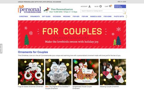 Christmas Ornaments for Couples at Personal Creations
