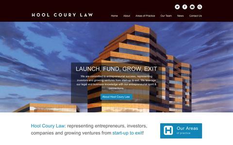 Screenshot of Home Page hoolcourylaw.com - Hool Coury Law - captured Jan. 27, 2015