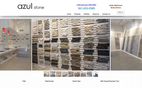 Screenshot of Products Page azulstone.com - GRANITE COUNTERS WEST PALM BEACH - captured Nov. 21, 2016