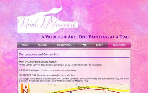 Screenshot of About Page paintnvineyard.com - Paintnvineyard Contact/Location - captured Sept. 26, 2018