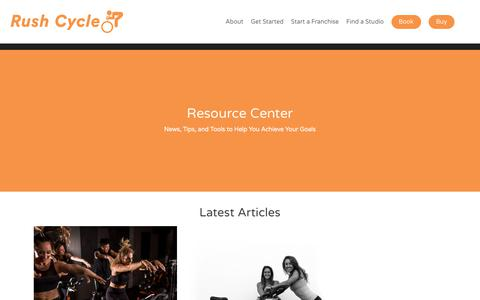 Screenshot of Press Page rushcycle.com - The Rush Studio News & Spin Workouts   The Rush Cycle - captured Jan. 10, 2018