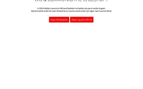 Screenshot of Home Page wijencommunicatie.nl - Wij & Communicatie - captured Dec. 3, 2016