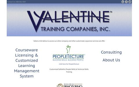 Screenshot of Home Page Site Map Page valentinetrainingcompanies.com - Valentine Training Companies - captured Oct. 6, 2014