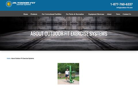 Screenshot of About Page outdoor-fit.com - About Outdoor-Fit Exercise Systems | Outdoor Fitness Equipment - captured Feb. 22, 2016