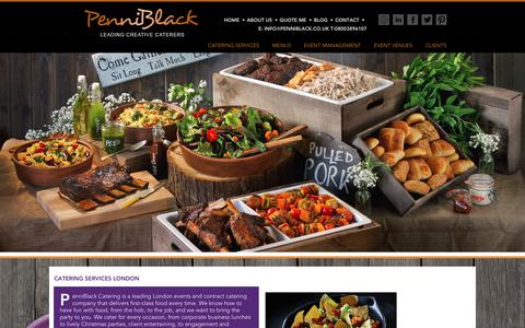 Screenshot of Services Page penniblack.co.uk - Catering Services London : PenniBlack - captured July 20, 2017