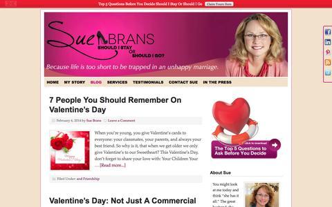 Screenshot of Blog suebrans.com - Blog - captured Oct. 7, 2014