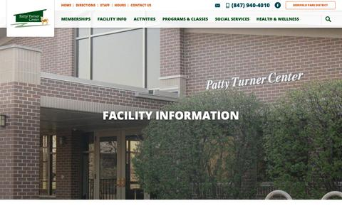 Screenshot of Hours Page deerfieldparks.org - Facility Information - Deerfield Park District - captured Oct. 8, 2018