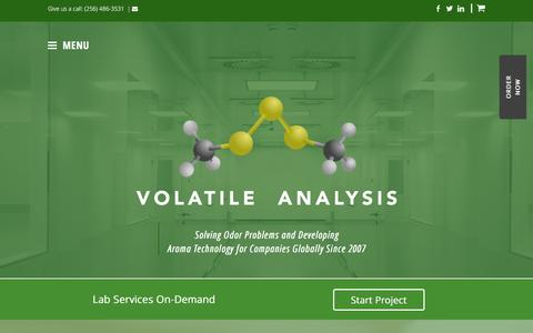 Screenshot of Home Page volatileanalysis.com - Volatile Analysis Home Page - Volatile Analysis - captured Feb. 26, 2016