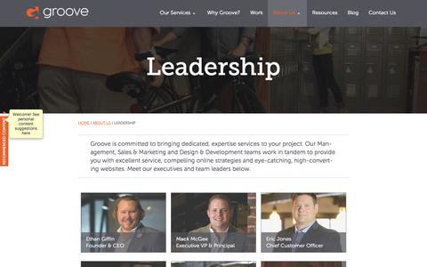 Screenshot of Team Page gotgroove.com - Our Leadership - Groove Commerce - captured Oct. 27, 2015