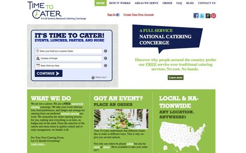 Screenshot of Press Page timetocater.com - Home | Time To Cater - National Catering Company - Nationwide Catering - captured Sept. 17, 2014