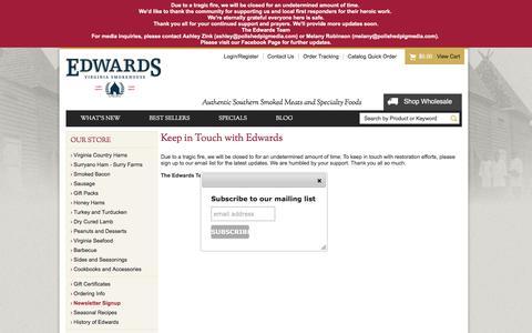 Screenshot of Signup Page edwardsvaham.com - Sign Up for Edwards' Email List - captured Feb. 2, 2016