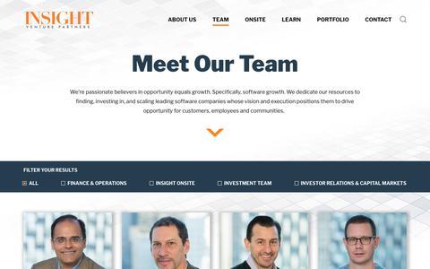 Screenshot of Team Page insightpartners.com - Team | Insight Venture Partners - captured March 4, 2018