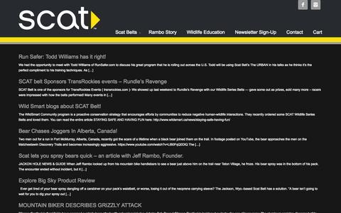 Screenshot of Blog scatbelt.com - Blog   ScatBelt - captured Sept. 30, 2014