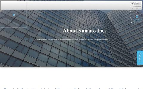 Screenshot of About Page smaato.com - About The Company. History and Awards - Smaato - captured March 12, 2018