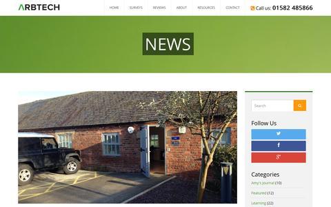 Screenshot of Press Page arbtech.co.uk - News Archives - Arbtech - captured Oct. 4, 2014