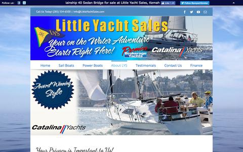 Screenshot of Privacy Page littleyachtsales.com - Privacy Policy – Little Yacht Sales - captured July 21, 2018