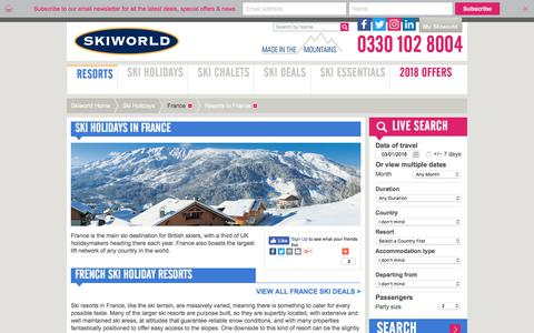 France Ski Holidays & Catered Ski Chalets | Skiworld