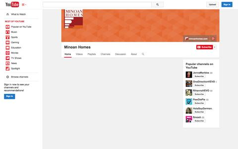 Screenshot of YouTube Page youtube.com - Minoan Homes  - YouTube - captured Oct. 26, 2014