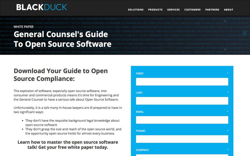 General Counsel & Open Source Software   Black Duck Software