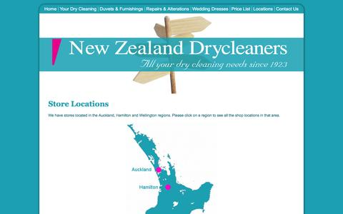 Screenshot of Locations Page nzdrycleaners.co.nz - NZ Drycleaners - Locate your NZ Dry Cleaner - captured March 6, 2016