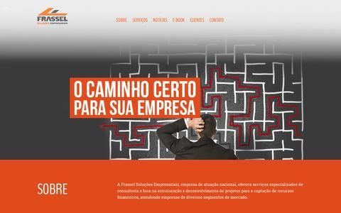 Screenshot of Home Page frassel.com.br - Frassel - Soluções Empresariais - captured Feb. 10, 2016
