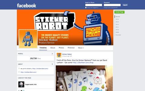 Screenshot of Facebook Page facebook.com - Sticker Robot | Facebook - captured Oct. 26, 2014