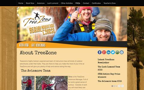 Screenshot of About Page treezone.co.uk - About us - captured Aug. 15, 2015