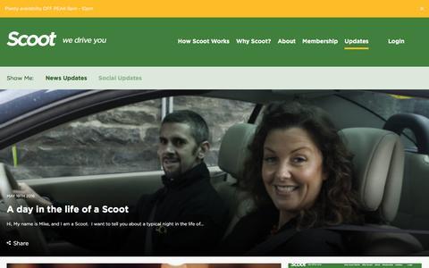 Screenshot of Press Page scootltd.co.uk - News - Scoot - captured July 23, 2016