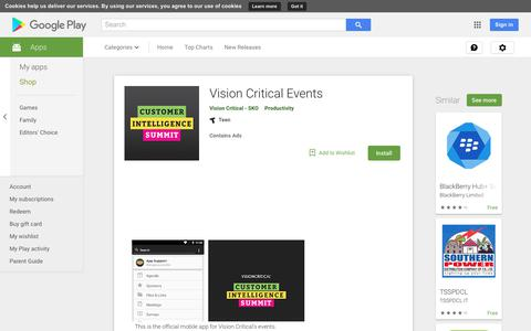 Vision Critical Events - Apps on Google Play