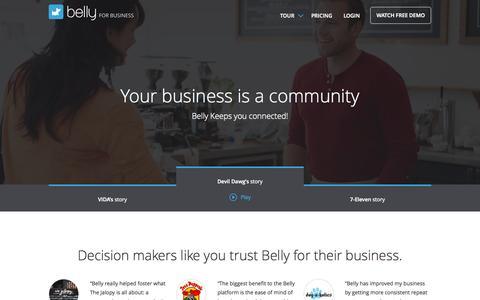 Screenshot of Testimonials Page bellycard.com - Merchant Testimonials & Success Stories | Belly - captured Oct. 20, 2015