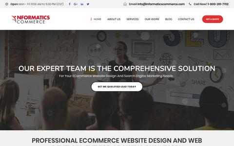 Screenshot of Home Page informaticscommerce.com - Informatics Commerce: eCommerce Design and Development, Houston, TX - captured Dec. 7, 2018