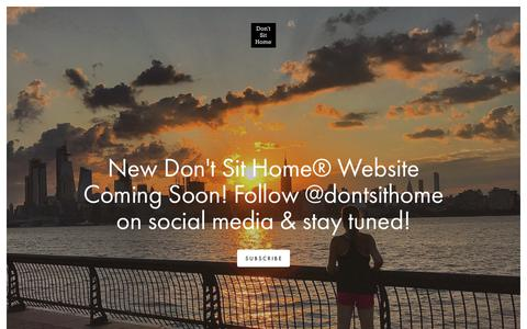 Screenshot of Home Page dontsithome.com - Don't Sit Home® - captured Aug. 7, 2018